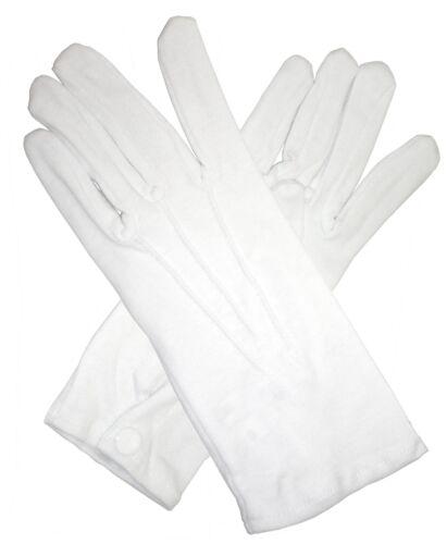 ADULT COTTON NYLON MAN MALE PARADE CLOWN CIRCUS MAGICIAN COSTUME GLOVES WHITE