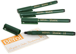Berol By Sanford Uk 4 Pack Italic Calligraphy Pen Set 4