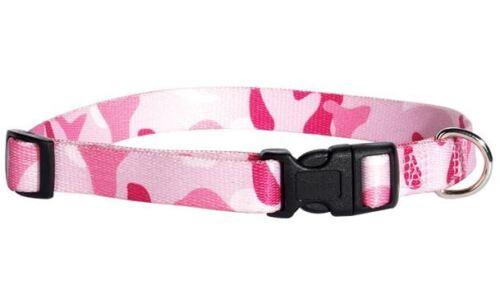 Camo Camouflage Dog Collar Nylon Guardian Gear Pet Collar Green Pink Blue Black