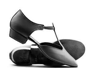 Ladies-Black-Leather-Dance-Greek-Sandal-Teaching-Jive-Ceroc-Salsa-Shoe-By-Katz