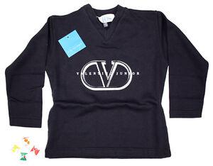 Valentino-Kinder-Longsleeve-Sweatshirt-Grau-Blau-Weiss-Gr-104-164
