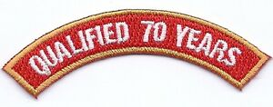 Holland-Club-Qualified-70-Years-Patch-Rocker-BC-Patch-Cat-No-C6995-70