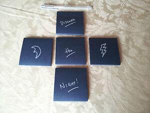 (250) Black Sticky Notes 8-Bit Post-It Art Midnight Halloween & BONUS Gel Pen