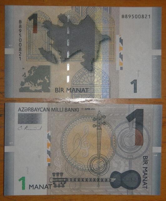 AZERBAIJAN Paper Money 1 Manat 2005 UNC