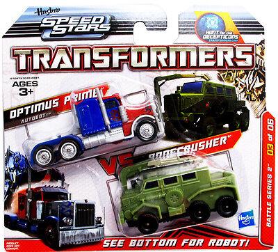 Transformers Hunt for the Decepticons Speed Stars Optimus Prime Bonecrusher