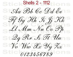1112 Customized Script Letters Vinyl Decal Sticker Custom