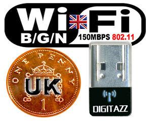 WIFI-150MBPS-WIRELESS-ADAPTOR-802-11-B-G-N-LAN-NETWORK-MINI-USB-DONGLE-ADAPTER