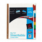 Avery Dennison Ave-11123 Worksaver Big Tab Insertable Divider - 8 X