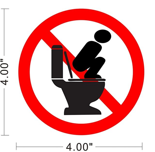 Restroom Toilet Caution Notice Warning Store Rules Cleaning Sign Sticker ~A040