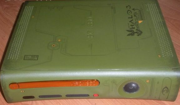 MICROSOFT XBOX 360 HALO 3 CONSOLE SHELL, FACEPLATE, EJECT, BEZEL, HD SHELL, MORE