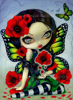 Jasmine Becket-Griffith art print SIGNED Poppy Magic fairy flower faerie big eye