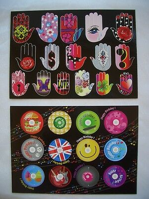 *Coole*Sticker&Postkarte*Happy Birthday disk&Hands of Happiness*10 x15cm