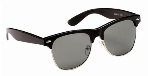 Homme femme classique vintage rétro designer plastique métal lunettes de soleil noir marron