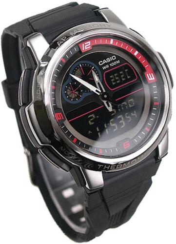Casio AQF-102W-1B OutGear Thermometer Men's Sports Resin Watch AQF102 AQF102W