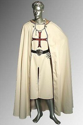 Medieval Renaissance Style Crusader Knight Cloak and Tunic (2 Pieces)