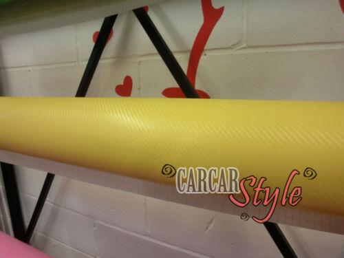 CARBON FIBER Yellow Vinyl 300mm x 1270mm Sheet Sticker
