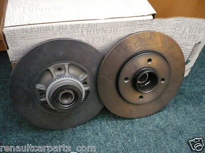 RENAULT CLIO SPORT 2.0 16v 172 & 182 GENUINE REAR BRAKE DISCS 7701204901