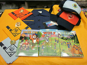 ONE-OFFICIAL-CUB-SCOUT-UNIFORM-SET-NEW-TIGER-WOLF-OR-BEAR-YOUR-CHOICE