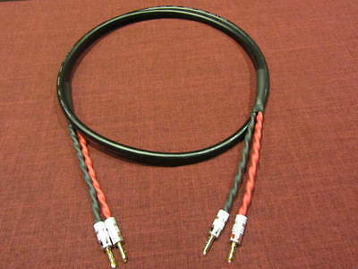 Canare 4S11 Star Quad 11 AWG BiWire Speaker Cable, 2 to 2 BFA Banana Plug, 5 Ft.