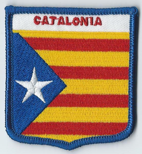 CATALONIA STARRED FLAG OF CATALAN SPAIN FLAG WORLD EMBROIDERED PATCH BADGE