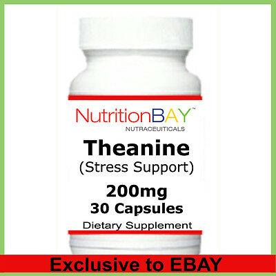L-Theanine, Stress Management, Promotes Relaxation, 200 mg, 30 Capsules