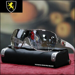 NEW-MEN-SHIELD-SUNGLASSES-TRENDY-SPORTS-BLACK-GUN-METAL