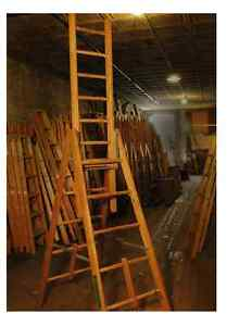 Wood Ladder Extension Trestle Ladders Ebay
