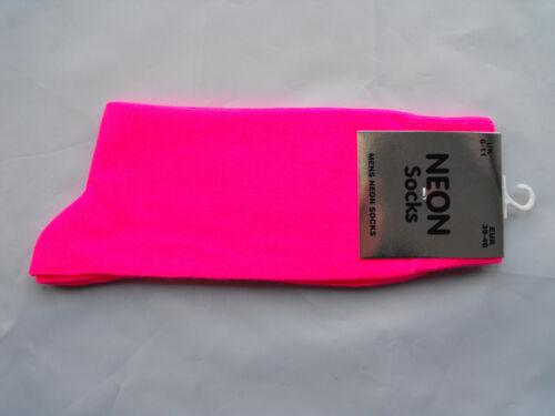 Mens Bright Neon Socks Fancy Dress.Teddy Boy,Rock & Roll 50's 60's 70's 80's