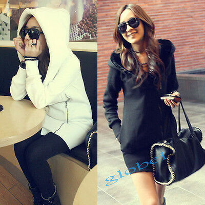 Lady Coat Outerwear Korea Womens Long Sleeve Winter Thicked Warm Hoodie Jacket
