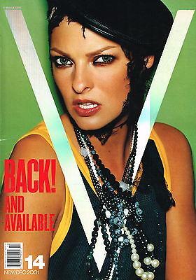 V Magazine #14 2001 LINDA EVANGELISTA Giselle Bundchen ALEK WEK Bridget Hall VGC