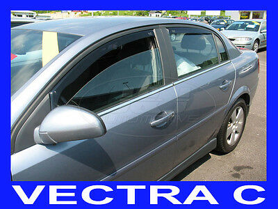 DOP25368 VAUXHALL VECTRA C 2002-2008 HTB WIND DEFLECTORS 4pcs set HEKO TINTED