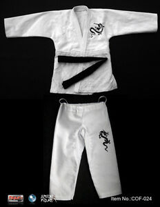 "Crazy Owners Martial Arts Free Fighter Uniform Black Belt 1/6 Scale 12"" COF-024A"