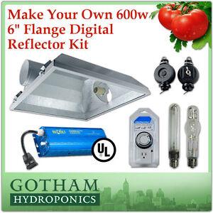 600w Hps Mh Grow Light Digital Ballast Kit Hangers 6 In