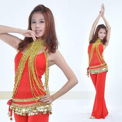 Belly Dance Costume Long Bead Body Necklace 2 Colors