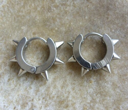 spikes 19 x 4 mm 1 pares Gothic punk Spike acero inoxidable creolen aretes 14 x 4 mm m