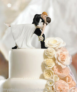 Image Is Loading A Romantic Dip Dancing Couple Wedding Cake Topper