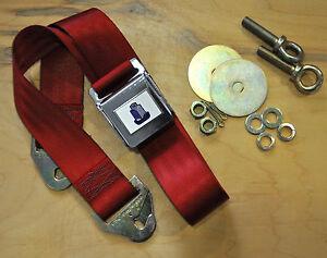 Vintage-Style-Triumph-Seat-Belt-TR2-TR3-TR4-TR250-TR6-Spitfire-Herald-GT6-Red