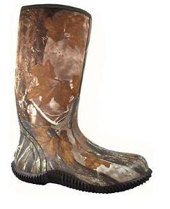 NEW-Camo-Amphibian-Rubber-Waterproof-Round-Toe-Men-039-s-Rain-Boots