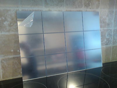 Acrylic Mirror Splash Back,Tile Effect 297mm x 420mm A3 or *cut to size*