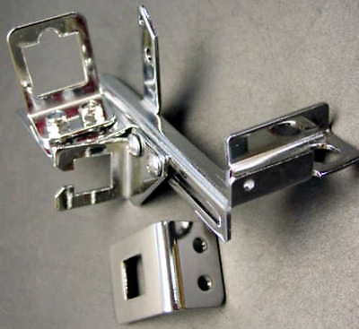 Throttle Cable Bracket with TH350 Kickdown Bracket - Chevy / GM Chrome