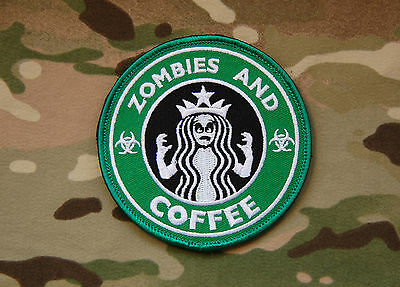 Starbucks Zombies and Coffee Morale Patch Walking Dead Undead Hook