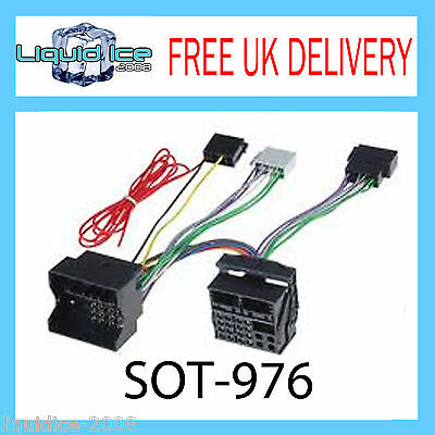 SOT-976 BMW MINI 2001 ONWARDS QUADLOCK CONNECTION FAKRA TO ISO ADAPTOR LEAD