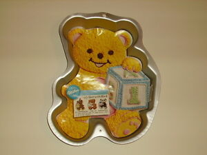 Home & Garden Constructive Wilton Teddy Bear With Block Baby 1st Birthday Party Cake Pan Mold #2105-8257 Refreshing And Enriching The Saliva