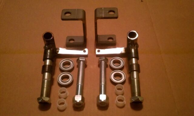 """3/4"""" axle Steering Spindles, Brackets, Bearings nylon inserts for Go Kart, Dolly"""