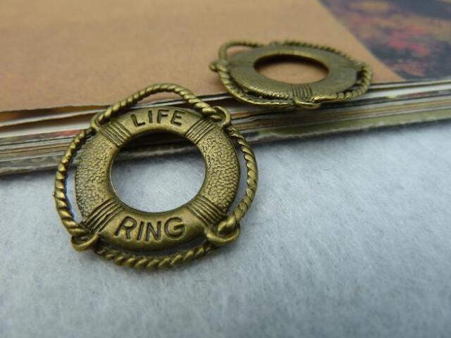 15pcs 22x24mm Antique Bronze Lovely Sea Life Ring Charm Pendant C2434