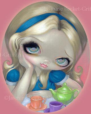 Jasmine Becket-Griffith art print SIGNED Alice's Tea Party wonderland big eye