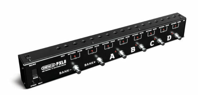 WAVE-X PXL8 8 LOOP PROGRAMABLE EFFECTS LOOPER SWITCHING SYSTEM BLACK NEW  NICE