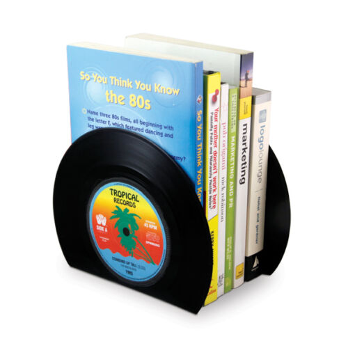 Vinyl Bookends For Music Lovers - Vinyl Record Shaped Organisers