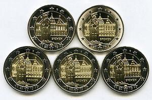 Germany-2010-5-x-2-Euro-Commemorative-Bremen-City-Hall-UNC