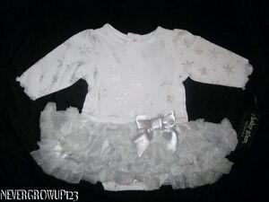 BABY-GLAM-SILVER-WHITE-SNOWFLAKE-INFANT-GIRLS-DRESS-3M-6M-9M-NWT